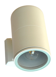 Salhiya Lighting Indoor/Outdoor Up & Down Wall Light, E27 Bulb Type, IP54, Temper Glass, 7002, White