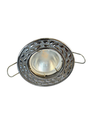 Salhiya Lighting Spotlight Frame, LED Bulb Type, Round Fixed, R167, Chrome
