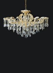 Salhiya Lighting Crystal Chandelier, E14 Bulb Type, 8 Arms, MX6855, Gold