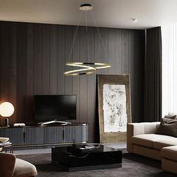 Salhiya Lighting Modern Torsion LED Pendant Lights, MD1602A-8A, Gold