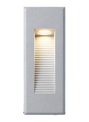 Salhiya Lighting Step Light Recessed, LED Bulb Type, IP65, 2513, 3000K-Silver