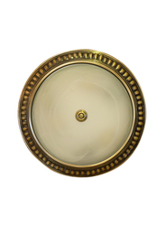 Salhiya Lighting Indoor Crystal Ceiling Light, E27 Bulb Type, B040915, Antique Brass