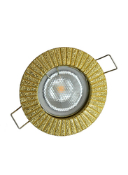 Salhiya Lighting Spotlight Frame, LED Bulb Type, Round Fixed, AL1462PB, Gold