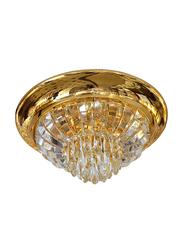 Salhiya Lighting Indoor Crystal Ceiling LED Light, 17011/400, Brass