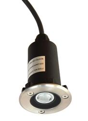 Salhiya Lighting Underground Light, LED Bulb Light, 1W, IP67, 2291A, Silver