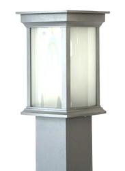 Salhiya Lighting Bollard Light, E27 Bulb Type, Glass Diffuser, 1636, Light Grey