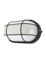 Salhiya Lighting Indoor/Outdoor Wall Bulkhead Light, E27 Bulb Type, P805, Black