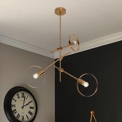Salhiya Lighting Modern Margarrete Pendant, 3 Bulbs, Bronze