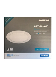 Megaman Sage Ultra Slim Ceiling Downlight, LED Bulb Type, 22W, FDL72100V0EX, 6500K-Daylight