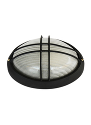 Salhiya Lighting Indoor/Outdoor Wall Bulkhead Light, E27 Bulb Type, P843S, Black