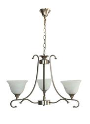 Salhiya Lighting Uplight Chandelier, E27 Bulb Type, 3 Arms, 7016, Satin Nickel