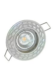 Salhiya Lighting Spotlight Frame, LED Bulb Type, Round Fixed, AL146A, White