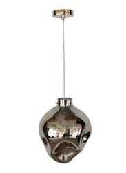 Salhiya Lighting Evelyn Indoor Glass Ceiling Pendant Light, E27 Bulb Type, D1831, Chrome