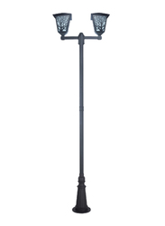 Salhiya Lighting Post Light, E27 Bulb Type, 2 Arms Glass Diffuser, 147127, White