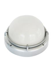 Salhiya Lighting Indoor/Outdoor Wall Bulkhead Light, E27 Bulb Type, P831, Silver