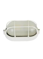 Salhiya Lighting Indoor/Outdoor Wall Bulkhead Light, E27 Bulb Type, P808, White