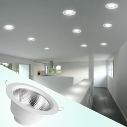 Megaman Recessed Integrated Ceiling Downlight, LED Bulb Type, 9.5W, F54600RC, Daylight