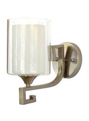 Salhiya Lighting Indoor Wall Sconce, E27 Bulb Type, 8809, Satin Nickel