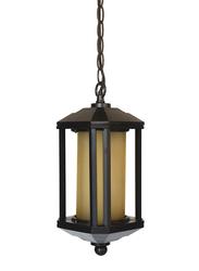 Salhiya Lighting Outdoor Hanging Ceiling Light, E27 Bulb Type, A2125, Black