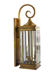 Salhiya Lighting Indoor Arabic Wall Light, E27 Bulb Type, NT0020, Brass