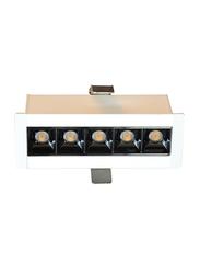 Euroluce 5Heads Ceiling Downlight, LED Bulb Type, 10W, CF4010, 3000K-Warm White