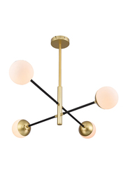 Salhiya Lighting Modern Joy Pendant Light, 4 Bulbs, Bronze