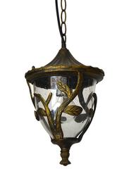 Salhiya Lighting Outdoor Hanging Ceiling Light, E27 Bulb Type, 0089H, Black/Gold