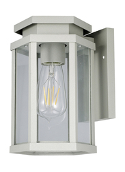 Salhiya Lighting Indoor/Outdoor Wall Light, E27 Bulb Type, Glass Diffuser, 1651A, Dark Grey
