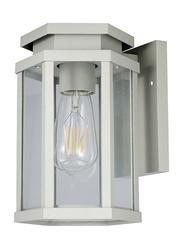 Salhiya Lighting Indoor/Outdoor Wall Light, E27 Bulb Type, Glass Diffuser, 1651A, Dark Grey