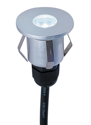 Salhiya Lighting Underground Light, LED Bulb Type, 1W Cree, 4x5 cm, IP65, 2101, Silver