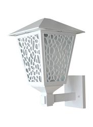 Salhiya Lighting Indoor/Outdoor Wall Light, E27 Bulb Type, Glass Diffuser, 147101, White
