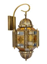 Salhiya Lighting Indoor Arabic Wall Light, E27 Bulb Type, DT132, Brass