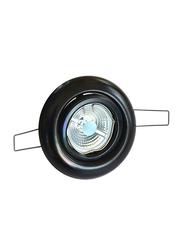 Salhiya Lighting Spotlight Frame, GU10 Bulb Type, Round Frame, 1931G/1018, Black