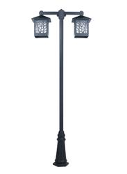 Salhiya Lighting Post Light, E27 Bulb Type, PC Diffuser, 141324, Brown