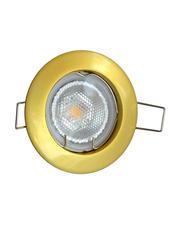 Salhiya Lighting Spotlight Frame, GU10 Bulb Type, Round Fixed, AL146PG, Gold