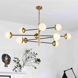 Salhiya Lighting Modern Joy Pendant Light, 10 Bulbs, Bronze