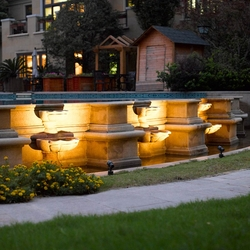 Salhiya Lighting Outdoor Spot Spike Light, LED Bulb Type, IP54, 15W, 2864COB, Warm White