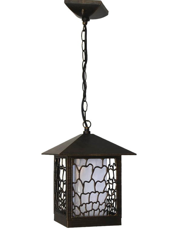 Salhiya Lighting Outdoor Hanging Ceiling Light, E27 Bulb Type, 8705A, Goldmine