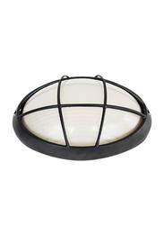 Salhiya Lighting Indoor/Outdoor Wall Bulkhead Light, E27 Bulb Type, P847, Black