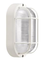 Lombardo Tartaruga Ovale 200 Con Gabbia Outdoor Wall/Ceiling Light, E27 Bulb Type, LB44124, White
