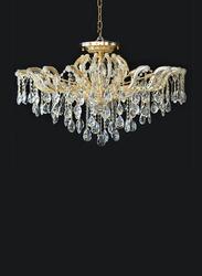 Salhiya Lighting Crystal Chandelier, E14 Bulb Type, 14 Arms, MX6855, Gold