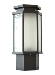 Salhiya Lighting Gate Top Light, E27 Bulb Type, Glass Diffuser, 1654A, Dark Grey