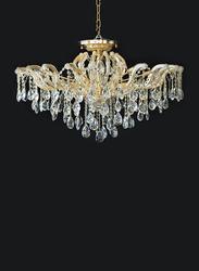 Salhiya Lighting Crystal Candle Chandelier, E14 Bulb Type, 5 Arms, MX6855, Gold