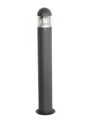 Salhiya Lighting Bollard Light, E27 Bulb Type, Frost Glass IP54, 8403900, Black