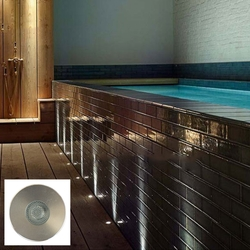 Salhiya Lighting Underground Light, LED Bulb Type, 1W Cree, IP65, 2101, Blue/Silver