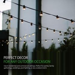 Salhiya Lighting 11.5-Meter Single Filament Belt Lights/Festoon Lights with Connectable Hanging Holder, E14 Bulb Type, KLE2701, Black