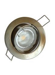 Salhiya Lighting Spotlight Frame, GU10 Bulb Type, Round Movable, AL229BNM, Chrome