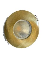 Salhiya Lighting Spotlight Frame, LED Bulb Type, Round Fixed, AL1042GAB, Brown