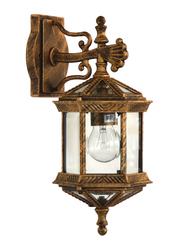 Salhiya Lighting Outdoor Wall Light, E27 Bulb Type, OW021, Black Gold
