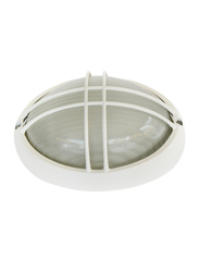 Salhiya Lighting Indoor/Outdoor Wall Bulkhead Light, E27 Bulb Type, P843S, White